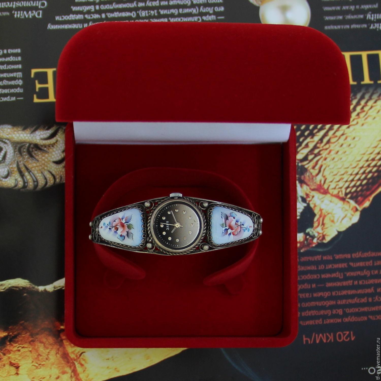 Заря финифть скань женские механические часы, Часы наручные, Москва,  Фото №1