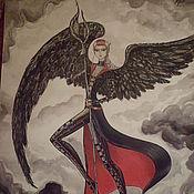 """Картины и панно ручной работы. Ярмарка Мастеров - ручная работа Репродукция картины """"Тёмный ангел 2"""". Handmade."""