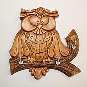 """Для дома и интерьера ручной работы. Ярмарка Мастеров - ручная работа Ключница """"Волшебная сова"""". Handmade."""