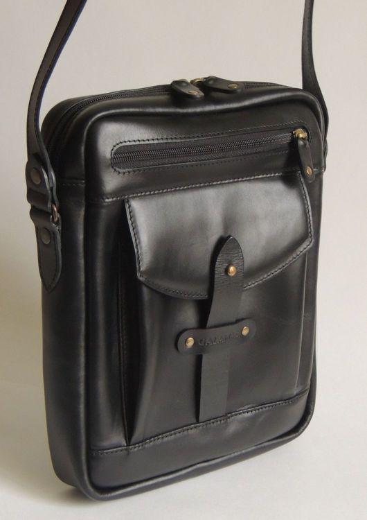 Мужские сумки ручной работы. Ярмарка Мастеров - ручная работа. Купить Сумка мужская. Handmade. Черный, аксессуары из кожи