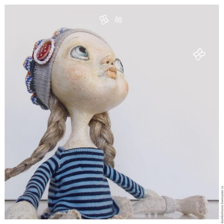 Коллекционные куклы ручной работы. Ярмарка Мастеров - ручная работа. Купить Кнопка!!!. Handmade. Украшение для интерьера, Паперклей