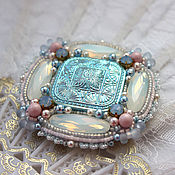 """Украшения handmade. Livemaster - original item Brooch """"Elsa"""" with pearls and Swarovski crystals. Handmade."""