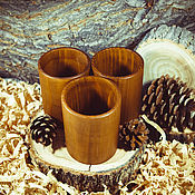 Посуда handmade. Livemaster - original item A set of Cedar Cups for tea, medicines, tinctures, 3 PCs #S6. Handmade.