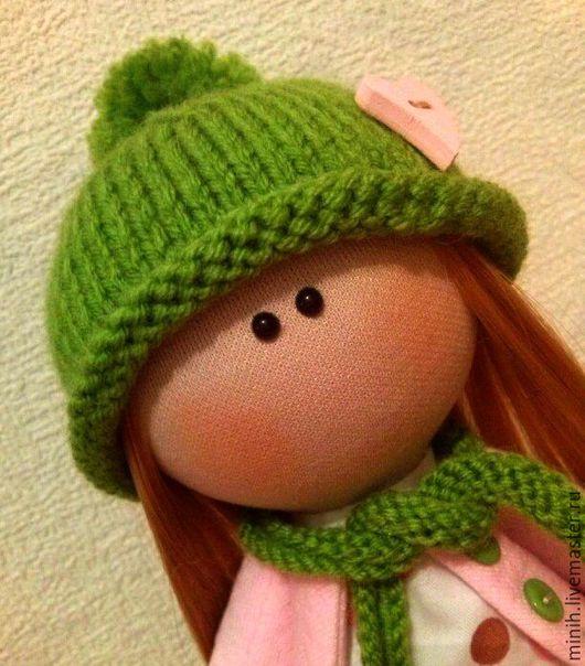 Куклы тыквоголовки ручной работы. Ярмарка Мастеров - ручная работа. Купить Текстильная кукла. ВЕСЕННЯЯ). Handmade. Зеленый, кукла интерьерная