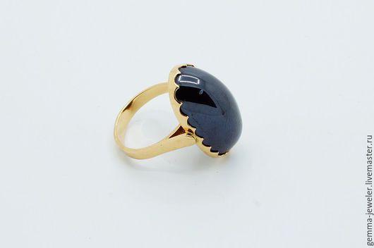 Кольца ручной работы. Ярмарка Мастеров - ручная работа. Купить Золотое женское кольцо Магия ночи. Handmade. Черный