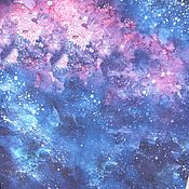 Материалы для творчества ручной работы. Ярмарка Мастеров - ручная работа Кулирка с лайкрой Вселенная. Handmade.
