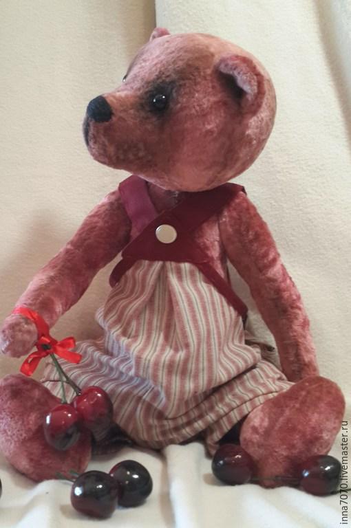 Мишки Тедди ручной работы. Ярмарка Мастеров - ручная работа. Купить Вишни для любимой. Мишка Тедди, 42 см.. Handmade.