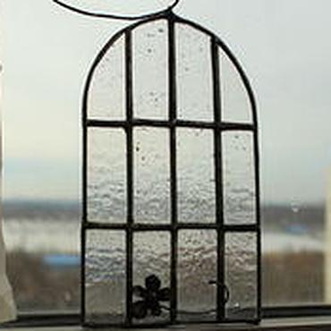 """Для дома и интерьера ручной работы. Ярмарка Мастеров - ручная работа """"Окна завода. Питер"""" Тиффани. Handmade."""