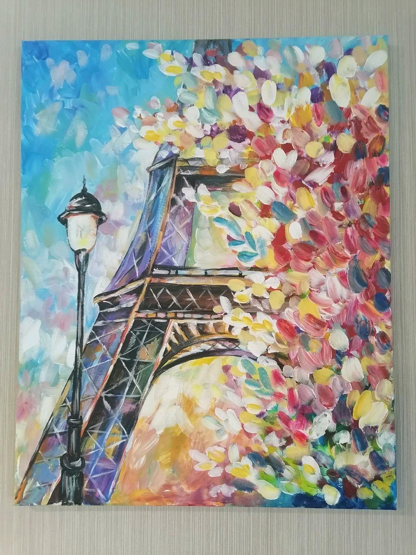"""Картина акриловыми красками """"Эйфелева башня"""", Картины, Советск,  Фото №1"""