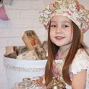 Работы для детей, handmade. Livemaster - original item The apron and hat child!. Handmade.