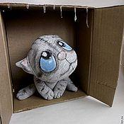 """Куклы и игрушки ручной работы. Ярмарка Мастеров - ручная работа кот """" Первый дождь"""". Handmade."""