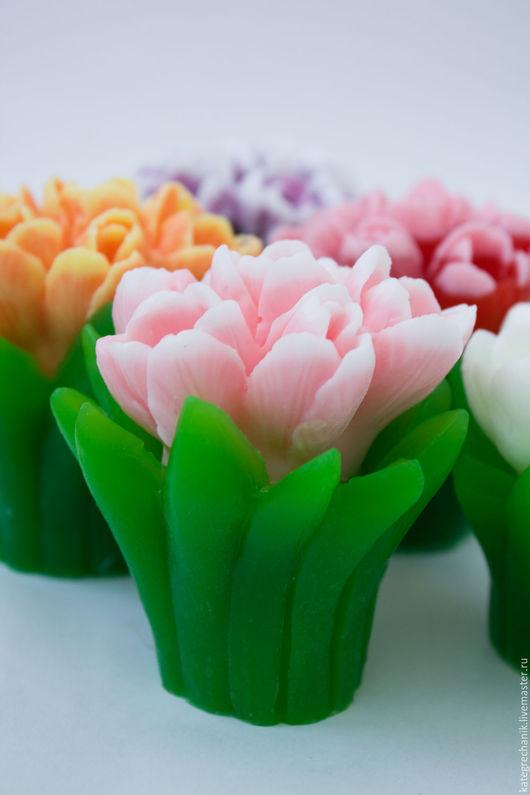 """Мыло ручной работы. Ярмарка Мастеров - ручная работа. Купить Мыло """"Букет тюльпанов"""" 3D. Handmade. Комбинированный, подарок маме"""