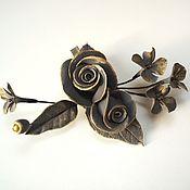 Украшения handmade. Livemaster - original item hairpins. Golden bouquet 2. Barrette clip.. Handmade.