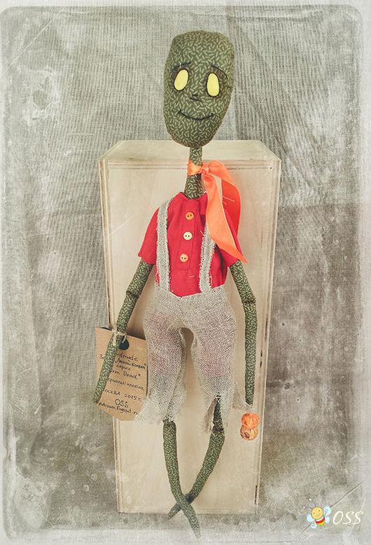 """Коллекционные куклы ручной работы. Ярмарка Мастеров - ручная работа. Купить Зомби """"Лесной болван"""". Handmade. Разноцветный, болван, хеллоуин"""