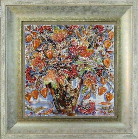 Натюрморт ручной работы. Ярмарка Мастеров - ручная работа. Купить Осенний букет. Handmade. Оранжевый, цветы, букет, осень, эксклюзив