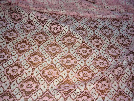 Аппликации, вставки, отделка ручной работы. Ярмарка Мастеров - ручная работа. Купить Хлопковое кружевное полотно PP-5149 розовый. Handmade.