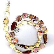Украшения handmade. Livemaster - original item beads made of jasper, mukai 74 cm. Handmade.