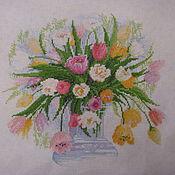 """Картины и панно ручной работы. Ярмарка Мастеров - ручная работа картина """"Акварельные тюльпаны"""". Handmade."""