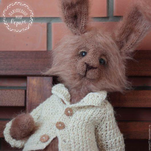 Игрушки животные, ручной работы. Ярмарка Мастеров - ручная работа. Купить Кролик Роберт. Handmade. Бежевый, шерсть для валяния