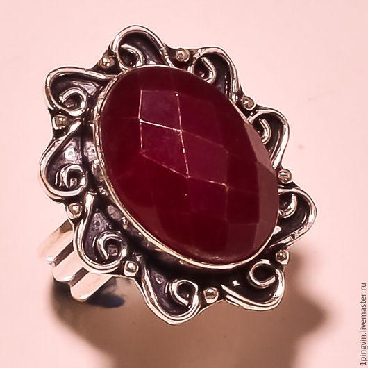 Кольца ручной работы. Ярмарка Мастеров - ручная работа. Купить Кольцо с рубином. Handmade. Украшение с камнями, украшения из камней. Красный камень