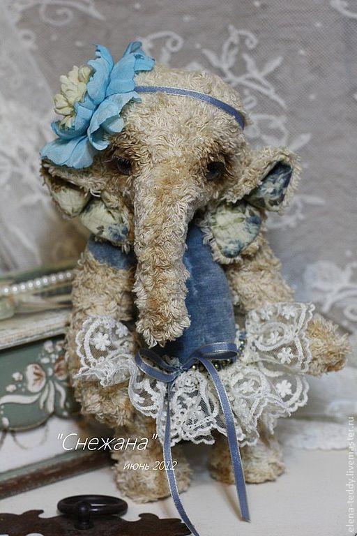 Мишки Тедди ручной работы. Ярмарка Мастеров - ручная работа. Купить Снежана. Handmade. Авторская работа, мишки тедди, слоник