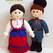 """Куклы и игрушки ручной работы. Ярмарка Мастеров - ручная работа """"Казак и казачка"""" вязаные куклы. Handmade."""