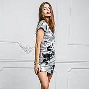 Одежда ручной работы. Ярмарка Мастеров - ручная работа Вечернее платье с пайетками серебро. Handmade.