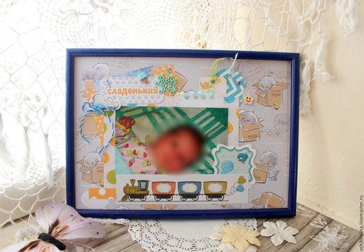 """Подарки для новорожденных, ручной работы. Ярмарка Мастеров - ручная работа. Купить Фото-страничка """"Baby Boy"""". Handmade. Голубой"""