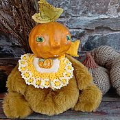 handmade. Livemaster - original item Teddy $: Pumpkins. Handmade.