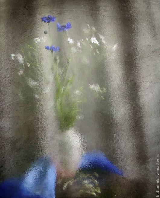 Фотокартины ручной работы. Ярмарка Мастеров - ручная работа. Купить Натюрморт Рисуя лето.... Handmade. Синий, белый, коричневый, васильки