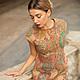 """Платья ручной работы. Ярмарка Мастеров - ручная работа. Купить Валяное платье  """"Калейдоскопы.. Handmade. Бежевый, валяное платье, калейдоскоп"""