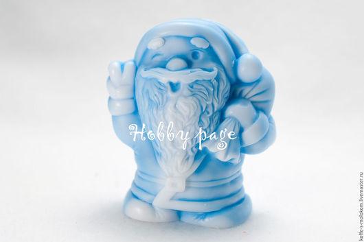 Материалы для косметики ручной работы. Ярмарка Мастеров - ручная работа. Купить Силиконовая форма для мыла Подмигивающий Санта. Handmade.