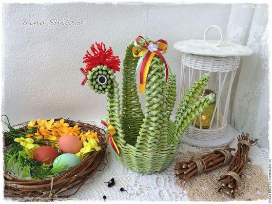 """Корзины, коробы ручной работы. Ярмарка Мастеров - ручная работа. Купить Курочка плетёная  """"Весна"""" Подарок на Пасху,пасхальная корзина. Handmade."""