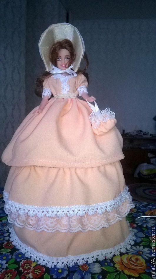 Шкатулки ручной работы. Ярмарка Мастеров - ручная работа. Купить кукла шкатулка. Handmade. Оранжевый, кукла, ручная работа, сатин