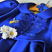 Работы для детей, ручной работы. Ярмарка Мастеров - ручная работа Детское нарядное платье из натурального шёлка. Handmade.