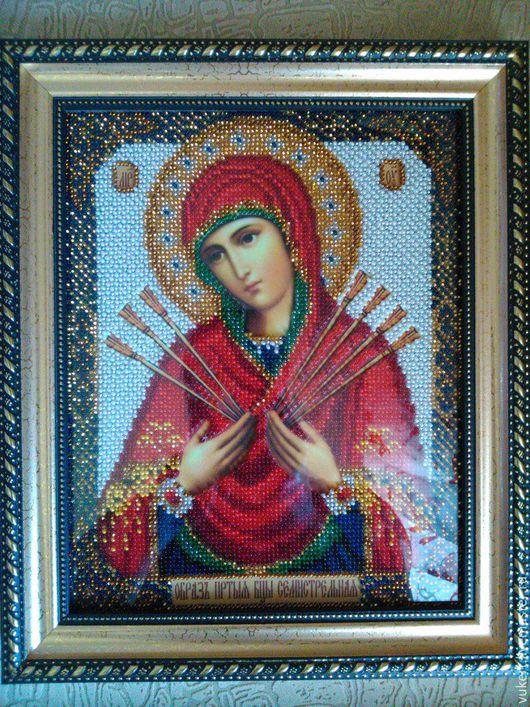 Икона бисером Богородица Семистрельная