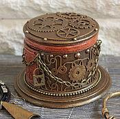 """Для дома и интерьера ручной работы. Ярмарка Мастеров - ручная работа Шкатулка """"Стимпанк-шляпка"""". Handmade."""
