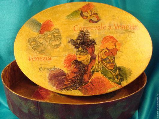 """Шкатулки ручной работы. Ярмарка Мастеров - ручная работа. Купить Коробка для мелочей """"Карнавал"""". Handmade. Комбинированный, коробка для мелочей"""