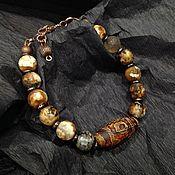 Украшения handmade. Livemaster - original item Agate bracelet with JI bead.. Handmade.