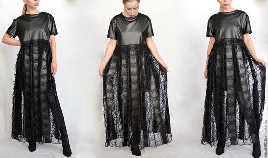 Платья ручной работы. Ярмарка Мастеров - ручная работа. Купить Готическое платье в стиле вамп. Handmade. Черный, кожа, готика
