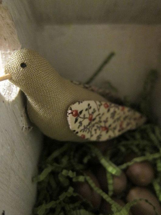 Куклы Тильды ручной работы. Ярмарка Мастеров - ручная работа. Купить Тильда Птичка в скворечнике. Handmade. Тильда, краски акриловые