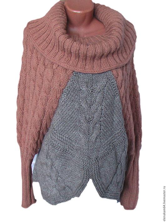 Кофты и свитера ручной работы. Ярмарка Мастеров - ручная работа. Купить свитер вязаный косы и ромбы. Handmade. Свитер вязаный