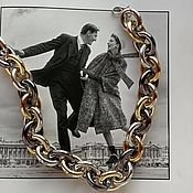 Украшения handmade. Livemaster - original item Chain with large links multi color Sophia. Handmade.