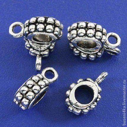 Для украшений ручной работы. Ярмарка Мастеров - ручная работа. Купить Бусина-бейл Шарики, античное серебро (1шт). Handmade.