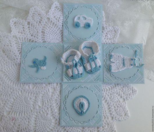 Подарки для новорожденных, ручной работы. Ярмарка Мастеров - ручная работа. Купить Коробочки для денег. Новорождённый. Handmade. Голубой