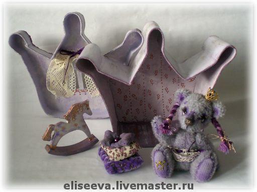 """Мишки Тедди ручной работы. Ярмарка Мастеров - ручная работа. Купить Мишка """"Принцесса Лючия"""". Handmade. Фиолетовый, мохер"""