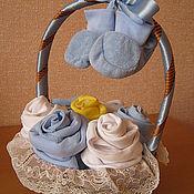 Подарки к праздникам ручной работы. Ярмарка Мастеров - ручная работа Корзиночка для новорожденного. Handmade.