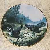 Посуда ручной работы. Ярмарка Мастеров - ручная работа Фарфоровая тарелка.. Handmade.