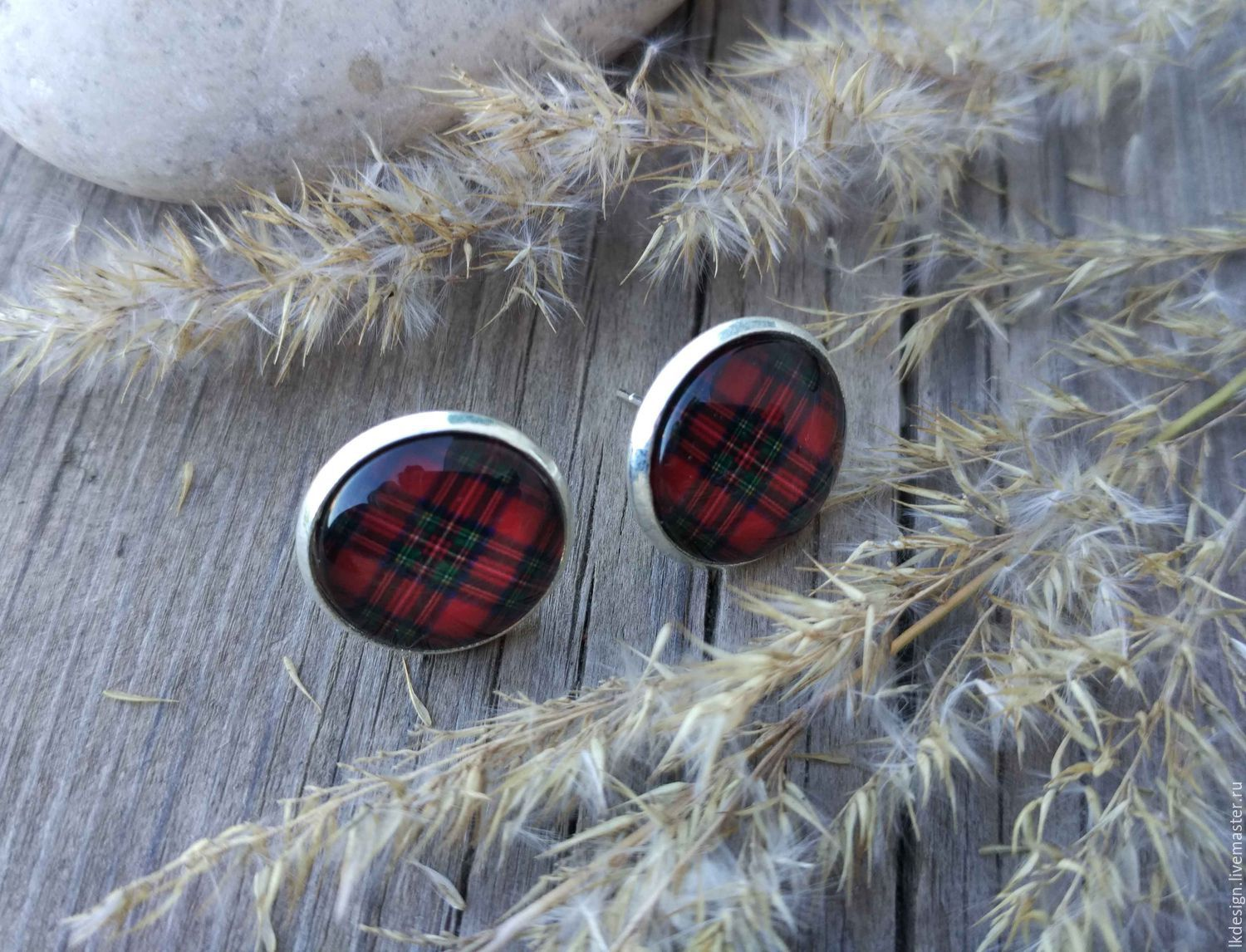 Earrings silver plated Cage red, Earrings, Moscow,  Фото №1
