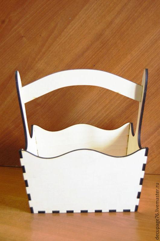Лукошко (продается в разобранном виде) Размеры: 26х16х21 см h-30 см Материал - фанера 6 мм